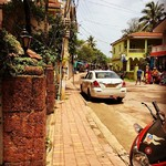 @instagram: There is something quite riveting about traveling solo. And what makes it more riveting is visiting something more mystical than you can ever imagine. Getting lost in the streets of Goa is quite the experience. The brightly colored buildings add to the or