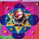 @instagram: Rangolis, diyas and marigold flowers. Festival vibes are in the air!
