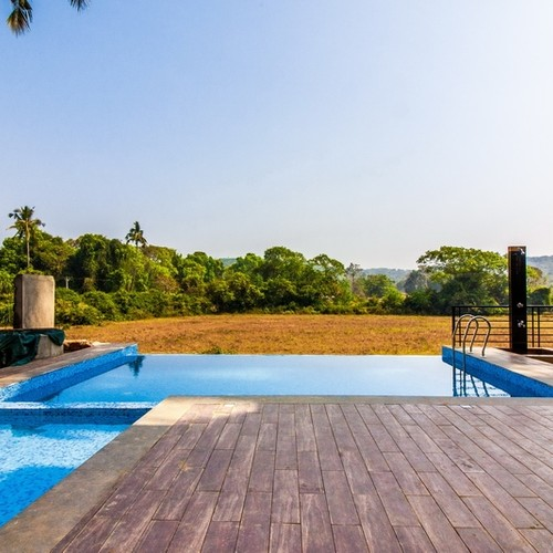 Calangute villa view on the rice fields