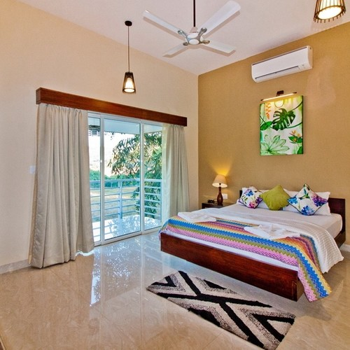 Luxury comfortable bedrooms in calangute villa