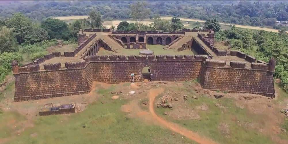 Corjuem Fort in North Goa on Mapusa River