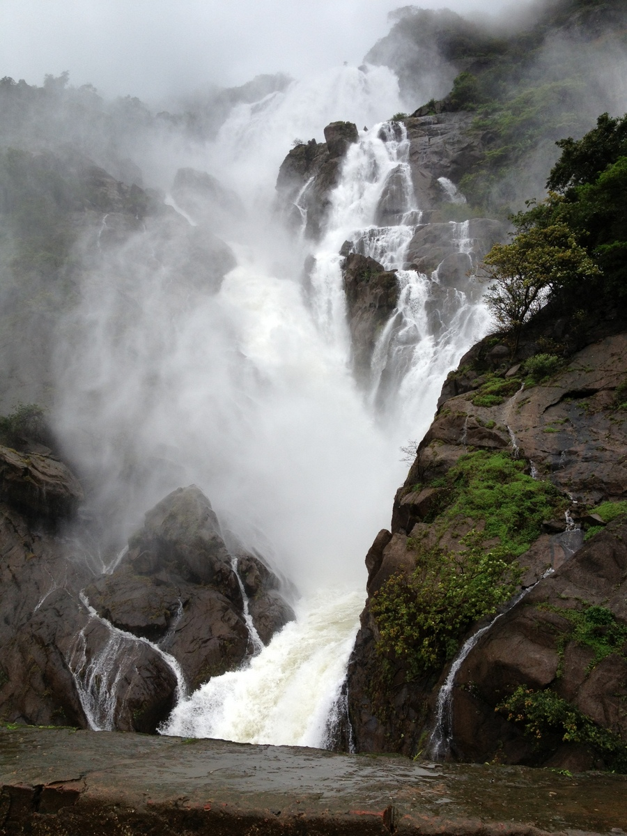 Dudhsagar Waterfall in Monsoon